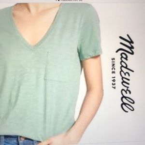 Madewell 100%cotton Whisper Tee in Mint Small NWT